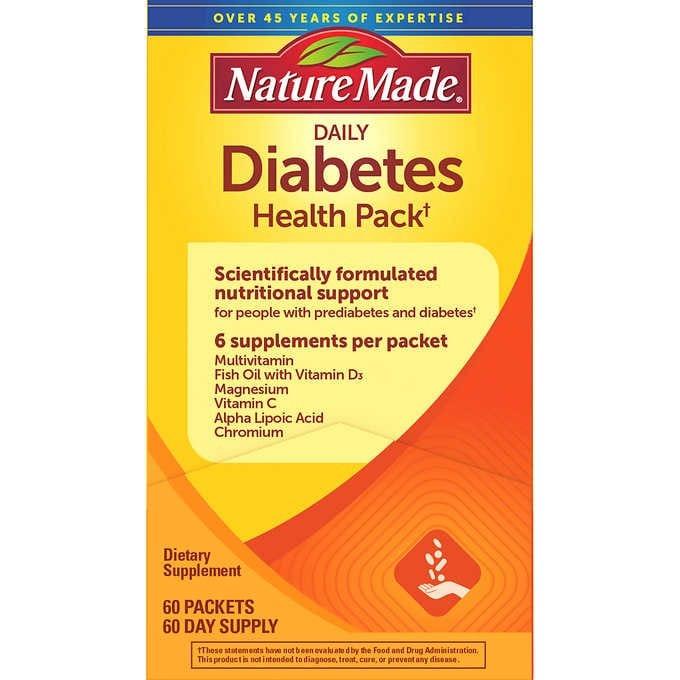 VIÊN UỐNG ĐIỀU HÒA ĐƯỜNG HUYẾT NATURE MADE DIABETES HEALTH PACK