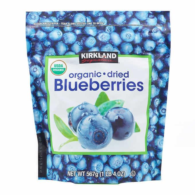 VIỆT QUẤT SẤY KHÔ KIRKLAND SIGNATURE ORGANIC DRIED BLUEBERRIES