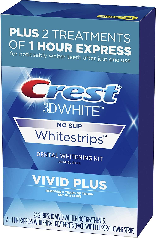 MIẾNG DÁN TRẮNG RĂNG CREST 3D WHITE WHITESTRIPS VIVID PLUS TEETH WHITENING KIT