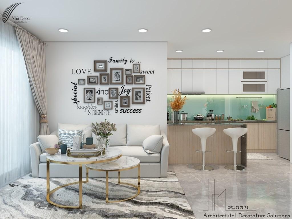 Phối cảnh 3D căn 2 phòng hộ chung cư Urban Hill Phú Mỹ Hưng