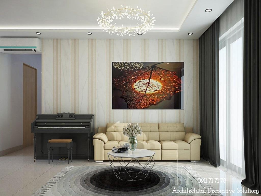 Phối cảnh 3D nội thất căn hộ 2 phòng ngủ chung cư The Sun Avenue