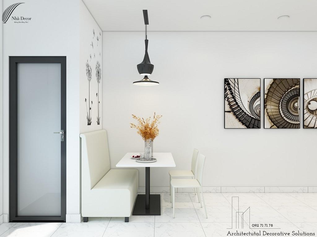 Phối cảnh 3D nội thất căn hộ chung cư 1 phòng ngủ Sunrise City View