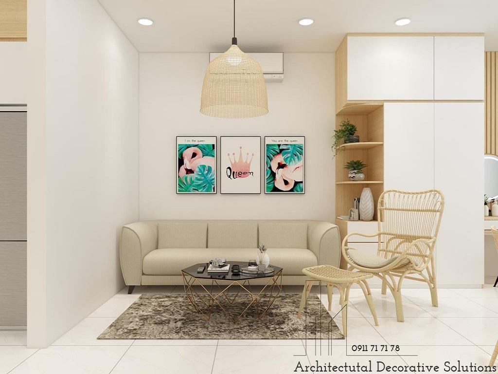 Phối cảnh 3D nội thất căn hộ chung cư Topaz Twin 1 phòng ngủ