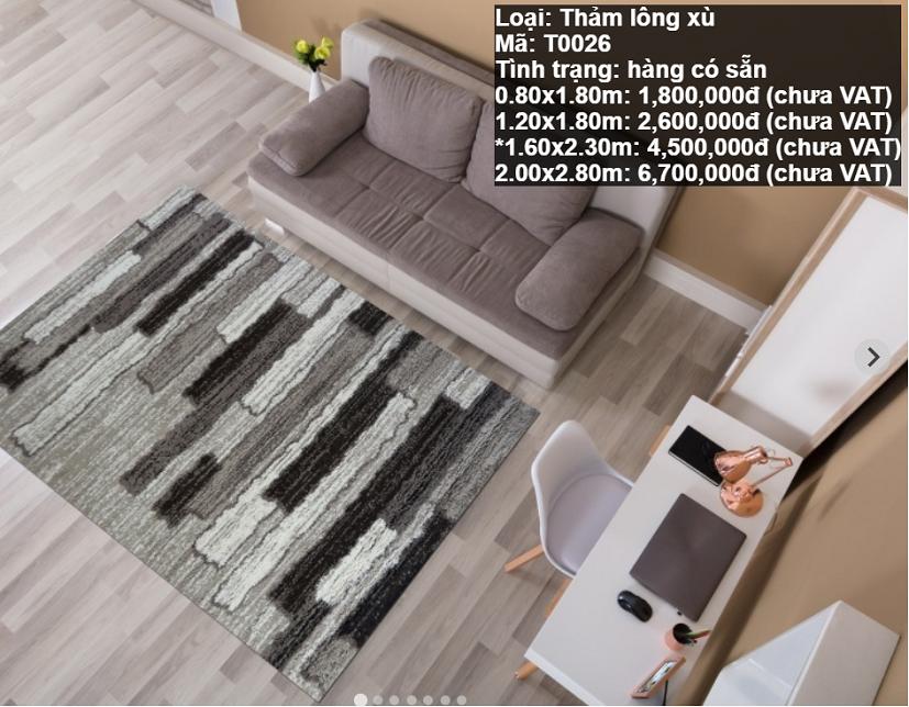 Thảm Lông Xù T0026