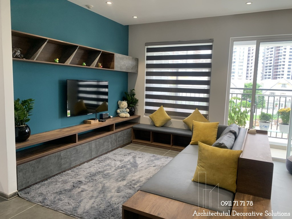 Thi công nội thất căn hộ 2 phòng ngủ chung cư Sunrise Riverside
