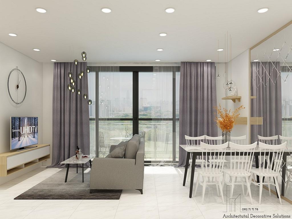 Thiết kế nội thất căn hộ Thủ Thiêm Dragon quận 2