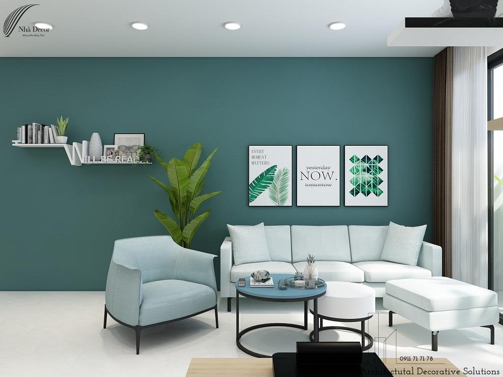Thiết kế nội thất căn hộ 2 phòng ngủ Eco Green Sài Gòn
