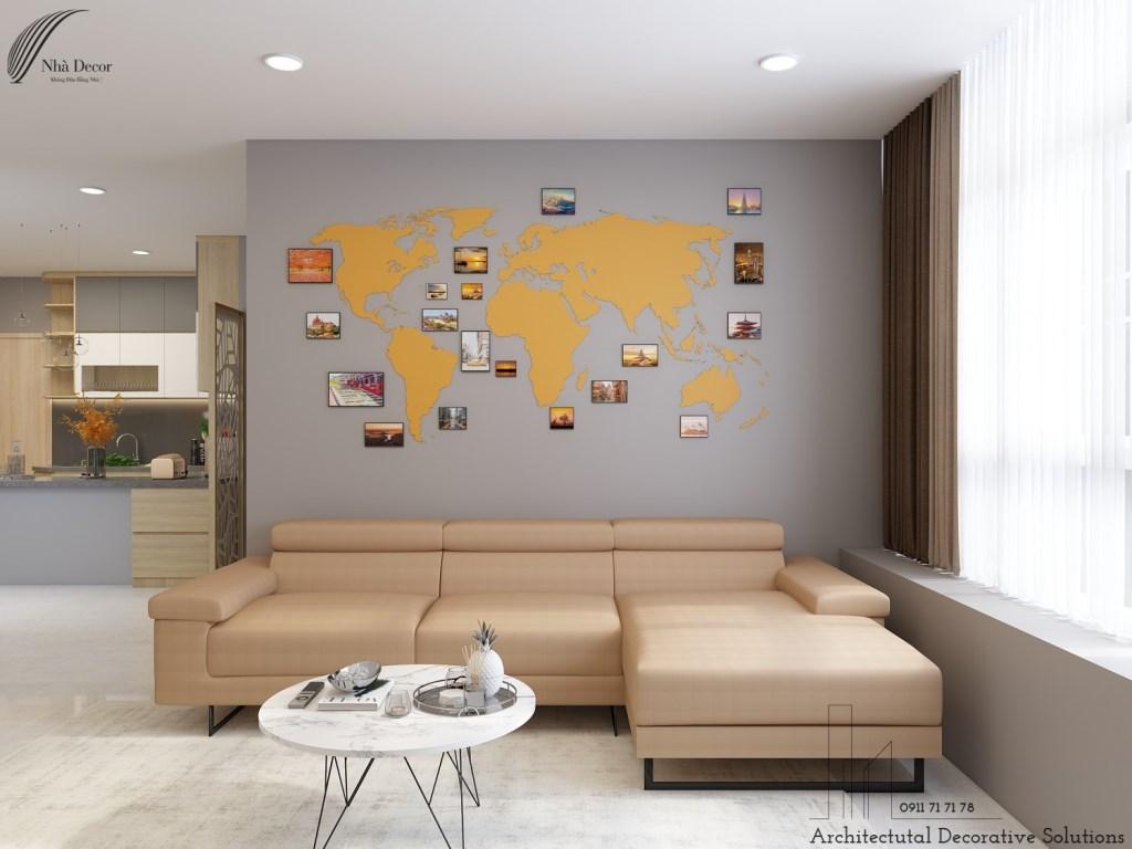 Thiết kế nội thất căn hộ 3 phòng ngủ chung cư Phú Hoàng Anh