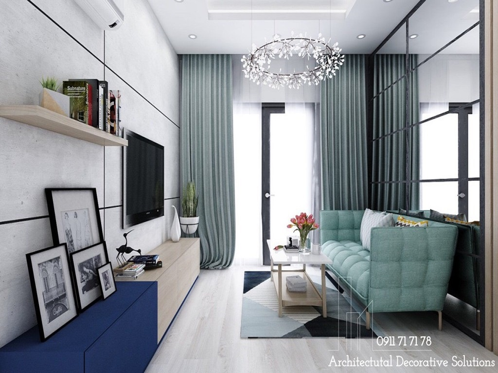Thiết kế nội thất căn hộ New City 1 phòng ngủ