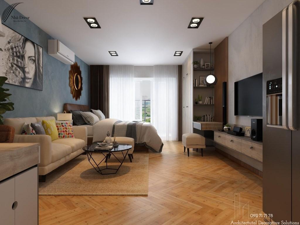 Thiết kế nội thất căn studio 38m2 chung cư Richmond City