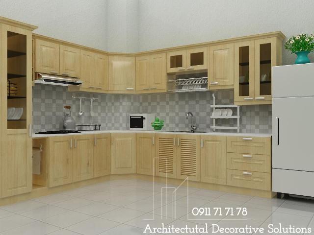 Tủ Bếp Gỗ Giá Rẻ 206T