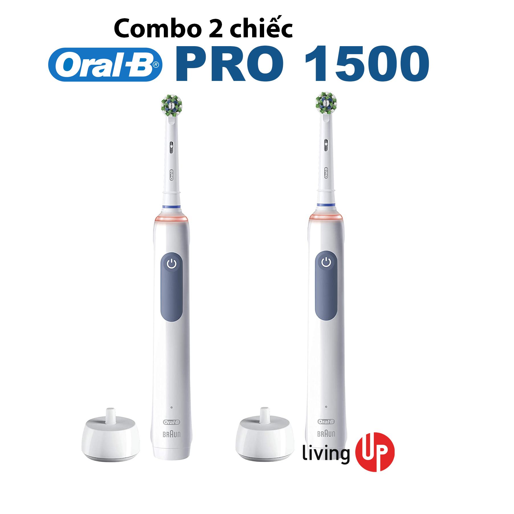 Combo 2 chiếc Oral-B ProAdvantage Smart 1500 (Bản mới 2021) - Thương hiệu: Oral-B
