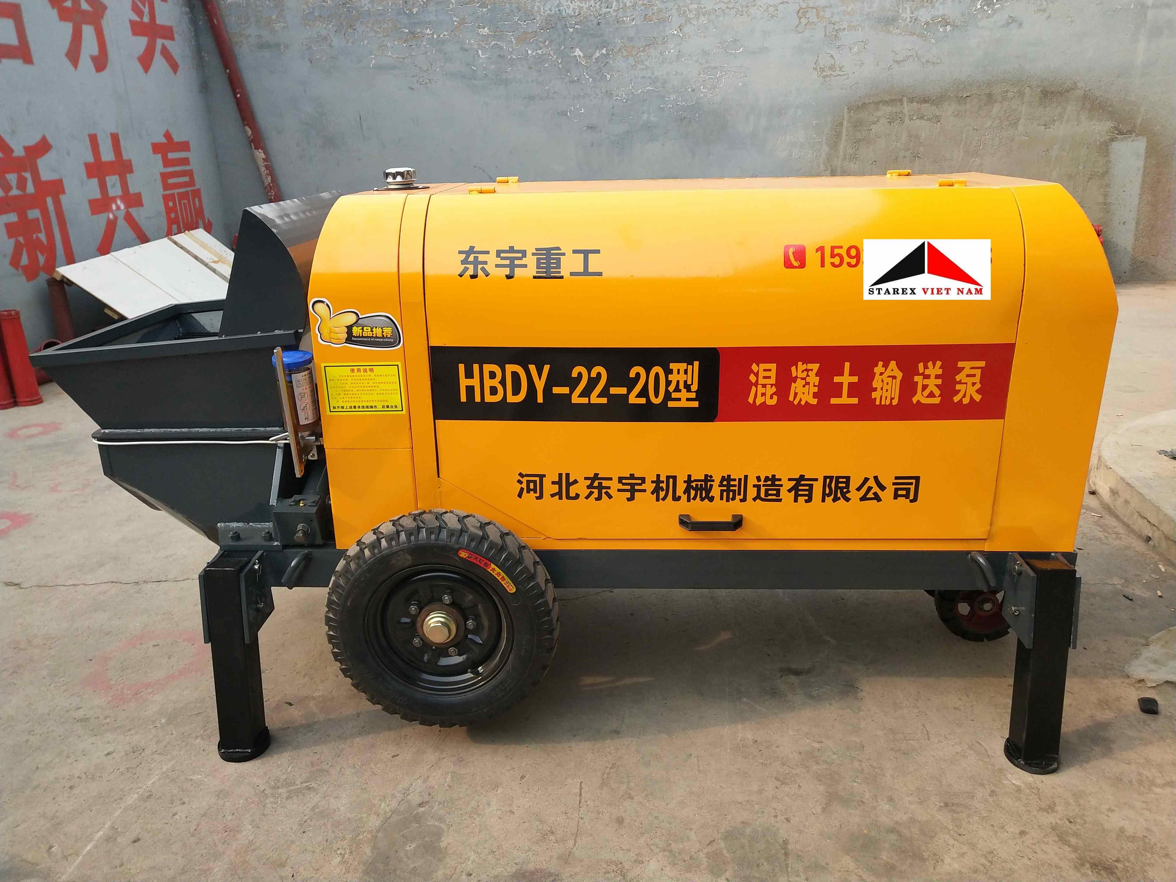 Bơm bê tông mini 10m3/h HBDY-22-20