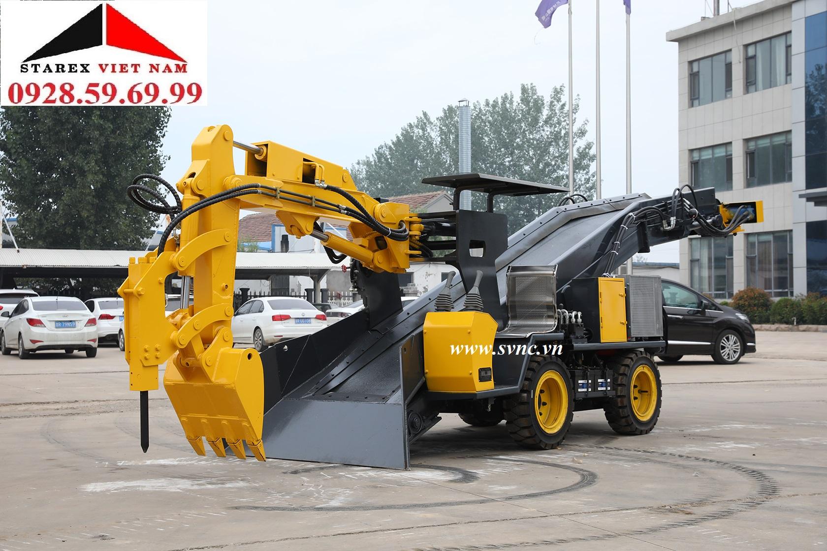Máy cào vơ bánh lốp 80m3/h XIANDAI STB-80