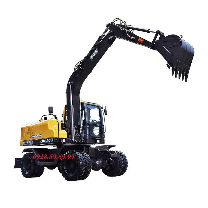 Máy xúc đào bánh lốp 04 JINGGONG JG120S