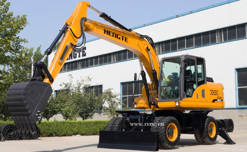 Máy xúc đào bánh lốp 06 HENGTE HT155W