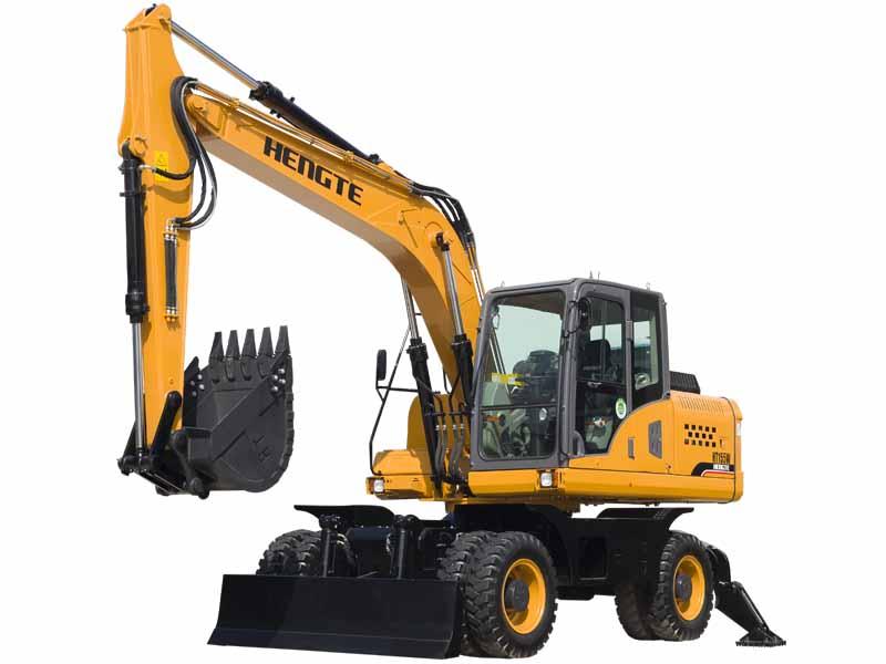 Máy xúc đào bánh lốp 06 HENGTE HT135W