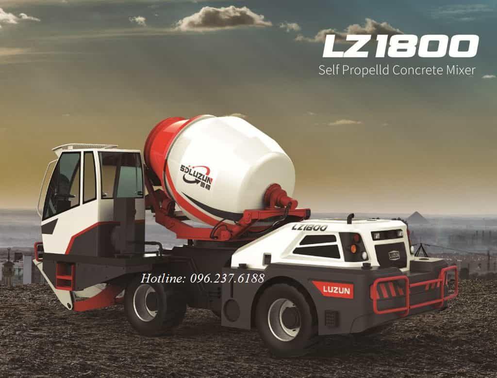 Xe trộn bê tông tự nạp liệu 3.5m3 LUZUN LZ1800