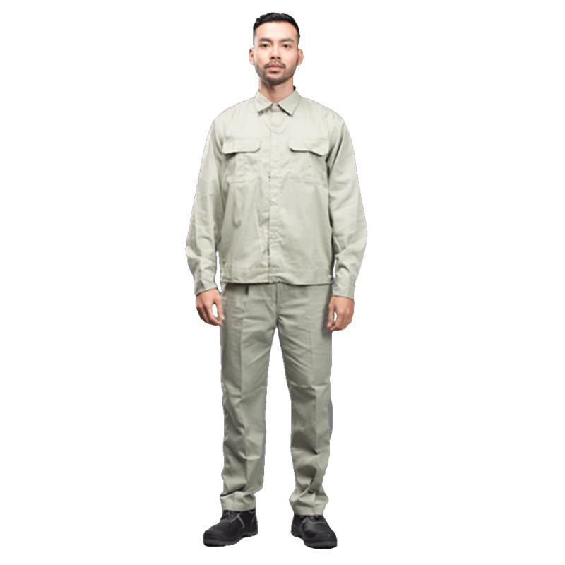 Quần áo bảo hộ kaki liên doanh màu xi măng (công nhân)