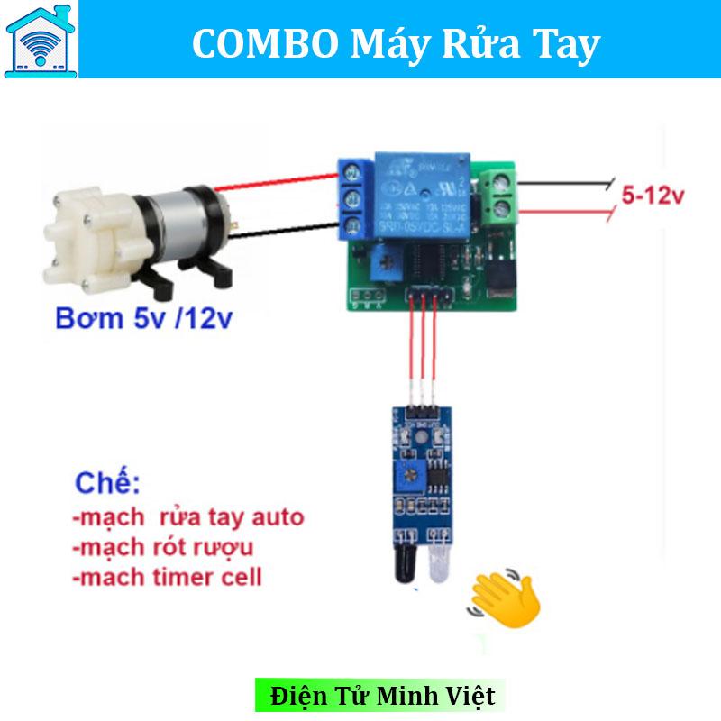 combo-mach-tre-may-rua-tay-tu-dong-12v-rot-ruou-timer-han-cell-pin