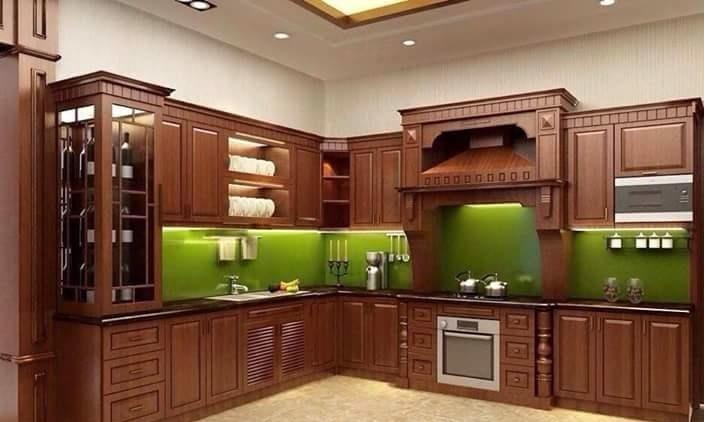 Tủ bếp gỗ Gõ đỏ - PD20