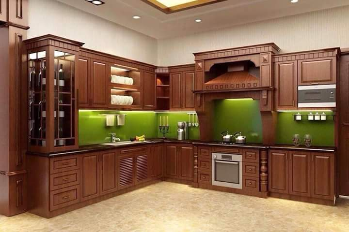 Tủ bếp gỗ dổi - PD16