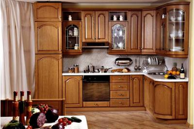 Tủ bếp gỗ dổi - PD09