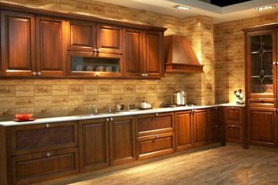 Tủ bếp gỗ Gõ đỏ - PD14