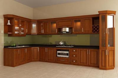 Tủ bếp gỗ Xoan đào - PD58