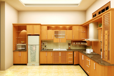 Tủ bếp gỗ dổi - PD02