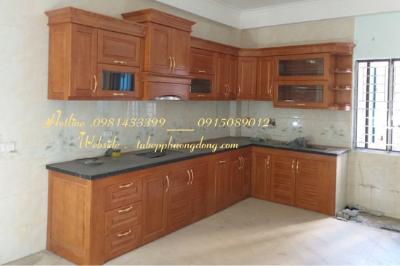 Tủ bếp gỗ Sồi Nga - PD11