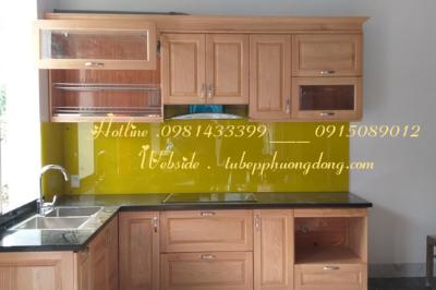 Tủ bếp gỗ Sồi Nga - PD17