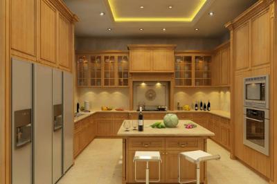 Tủ bếp gỗ Sồi Mỹ - PD20