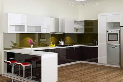 Tủ bếp Acrylic An Cường - PD19