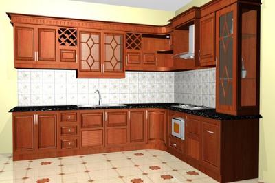 Tủ bếp gỗ Xoan đào - PD61