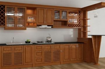 Tủ bếp gỗ Xoan đào - PD09