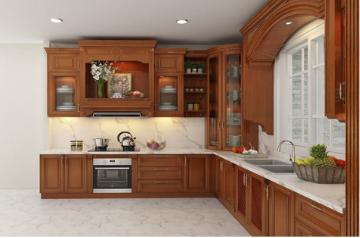 Tủ bếp gỗ Xoan đào - PD10
