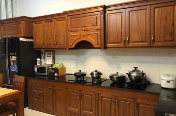 Tủ bếp gỗ Xoan đào - PD11