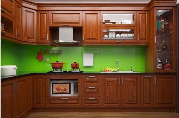 Tủ bếp gỗ Xoan đào - PD14
