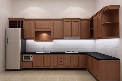 Tủ bếp gỗ dổi - PD19