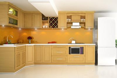 Tủ bếp gỗ Sồi Nga - PD12