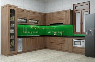 Tủ bếp gỗ Sồi Nga - PD49