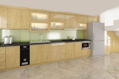 Tủ bếp gỗ Sồi Mỹ - PD10