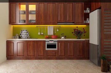 Tủ bếp gỗ Xoan đào - PD15