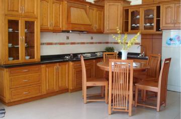 Tủ bếp gỗ Xoan đào - PD16