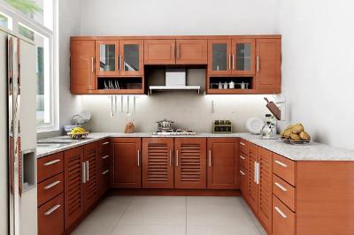 Tủ bếp gỗ dổi - PD20
