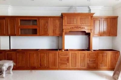 Tủ bếp gỗ Gõ đỏ - PD15