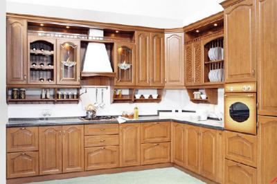 Tủ bếp gỗ dổi - PD11