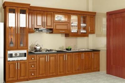 Tủ bếp gỗ Gõ đỏ - PD16
