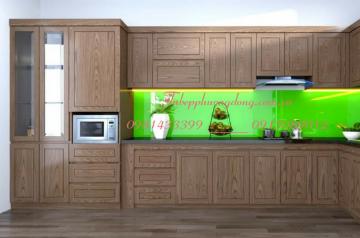 Tủ bếp gỗ Sồi Nga - PD51